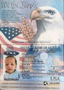 Паспорт США на ребенка