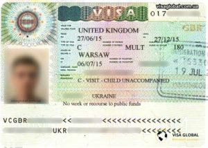 Виза в Великобританию (Англию) для ребенка